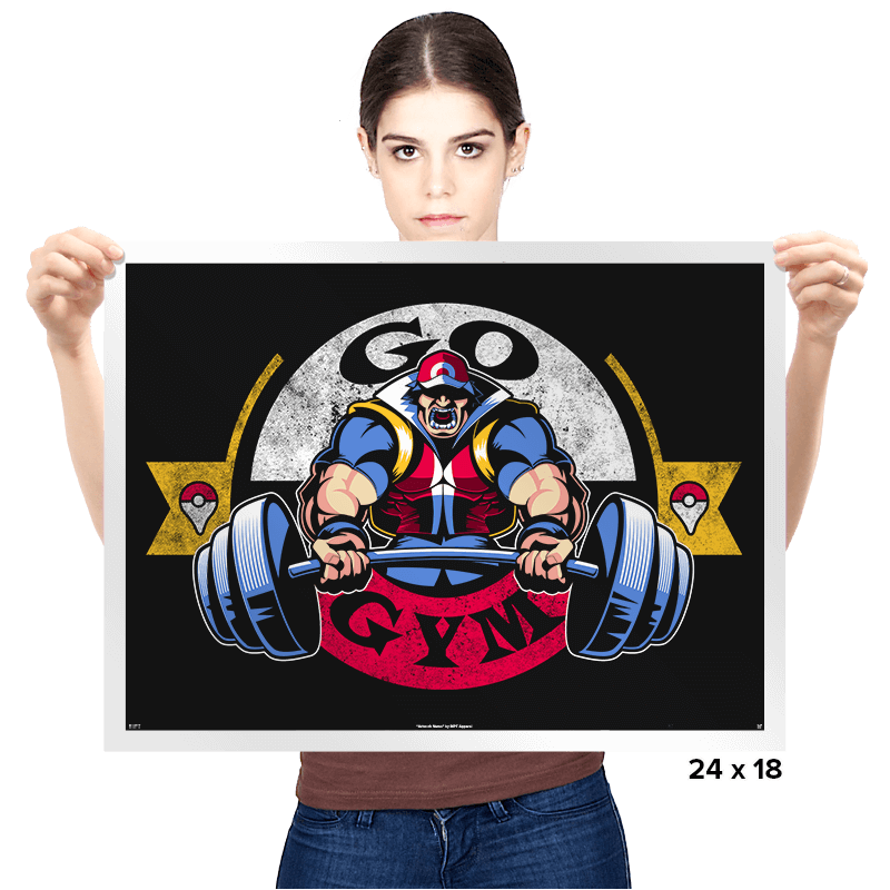 Go Gym - Prints - Posters - RIPT Apparel