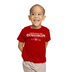 I Defeated The Demogorgon - Youth - T-Shirts - RIPT Apparel