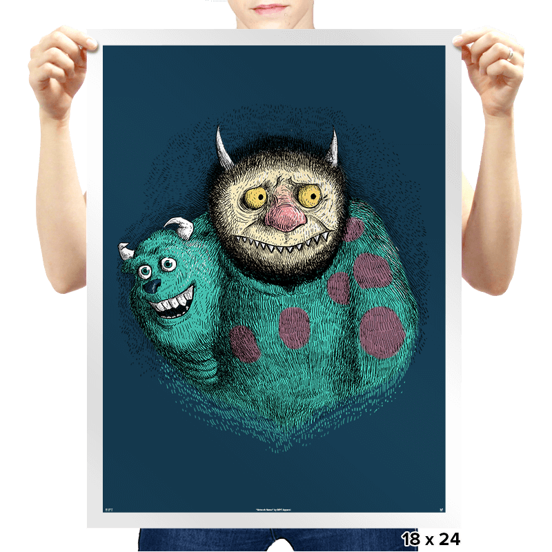 Where The Monsters Lie To You - Prints - Posters - RIPT Apparel