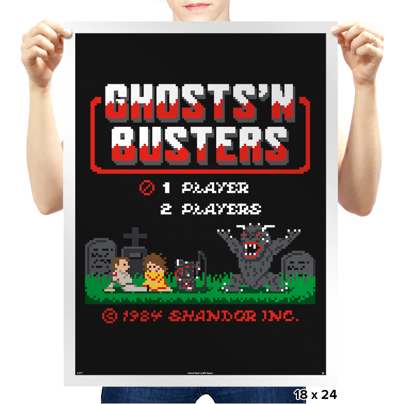 Ghosts 'N Busters - Prints - Posters - RIPT Apparel