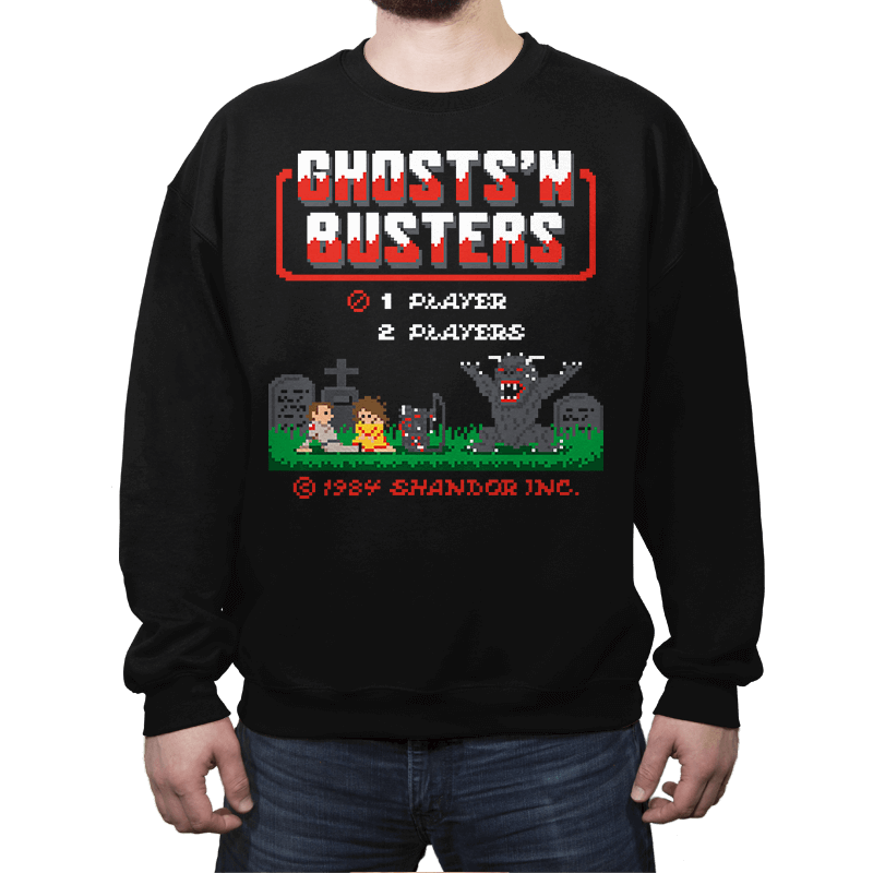 Ghosts 'N Busters - Crew Neck - Crew Neck - RIPT Apparel