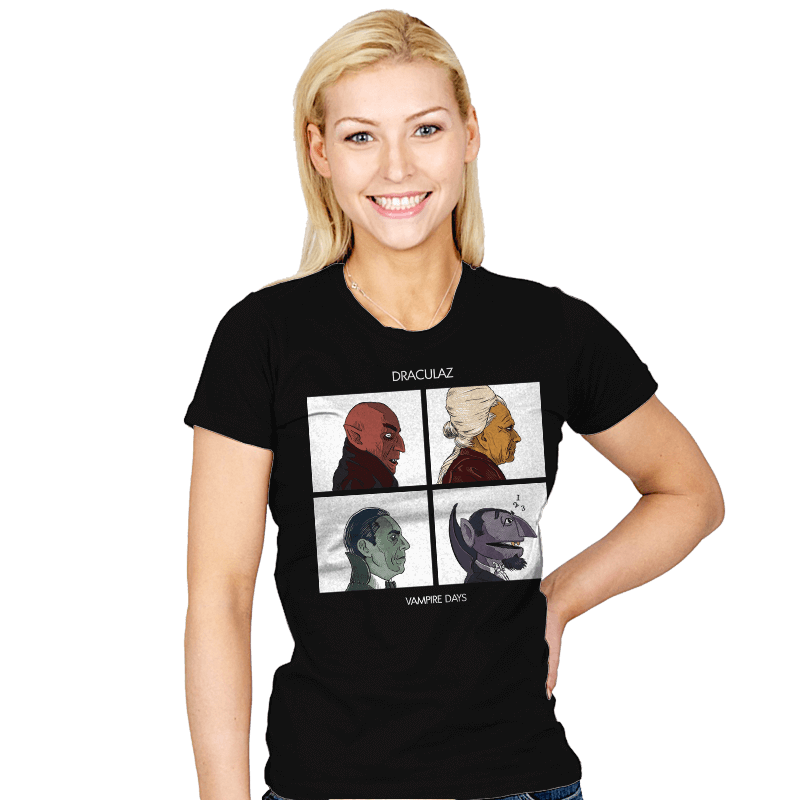 Draculaz - Vampire Days - Womens - T-Shirts - RIPT Apparel