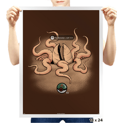 Galactic Monster Go - Pit Monster - Prints - Posters - RIPT Apparel