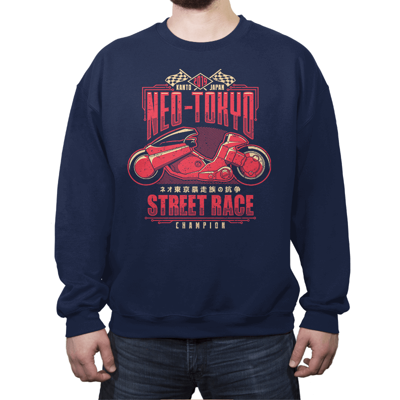 Neo Toyko Street Racing Champion - Crew Neck - Crew Neck - RIPT Apparel