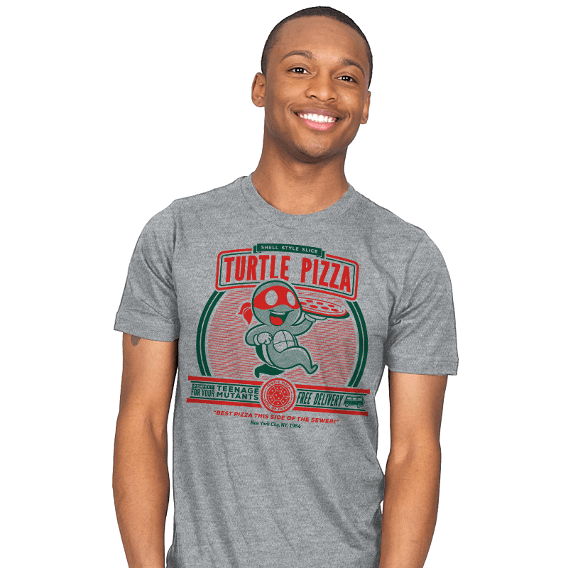 Turtle Pizza - Mens - T-Shirts - RIPT Apparel