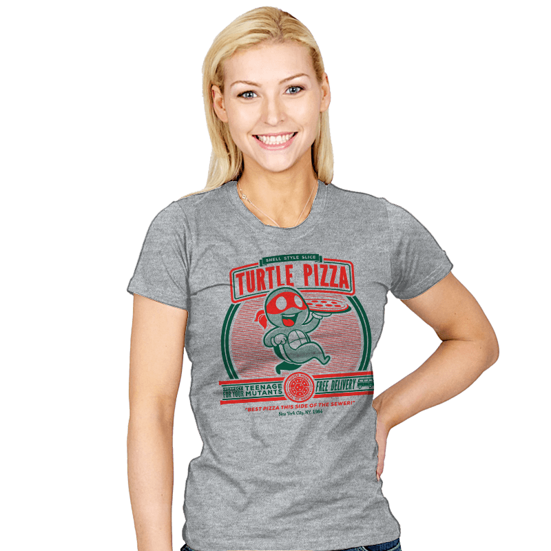 Turtle Pizza - Womens - T-Shirts - RIPT Apparel