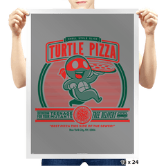 Turtle Pizza - Prints - Posters - RIPT Apparel