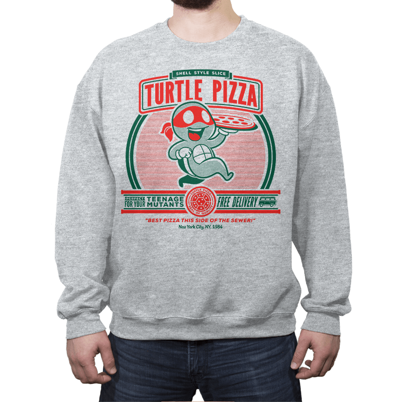 Turtle Pizza - Crew Neck - Crew Neck - RIPT Apparel