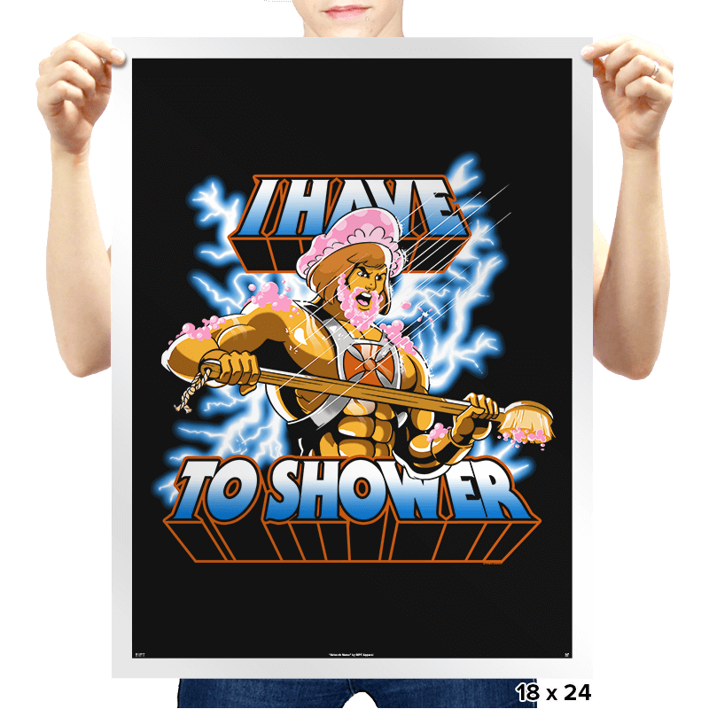 By the Shower of Greyskull - Prints - Posters - RIPT Apparel