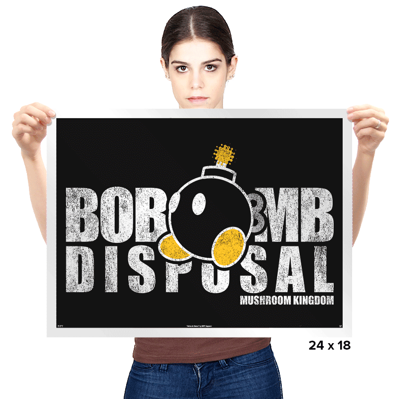 Bob-omb Disposal Exclusive - Prints - Posters - RIPT Apparel
