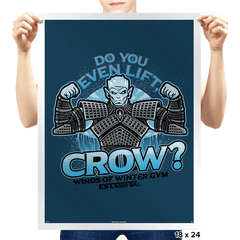 Do You Even Lift, Crow? Exclusive - Prints - Posters - RIPT Apparel