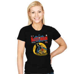 Butt-Man - Womens - T-Shirts - RIPT Apparel