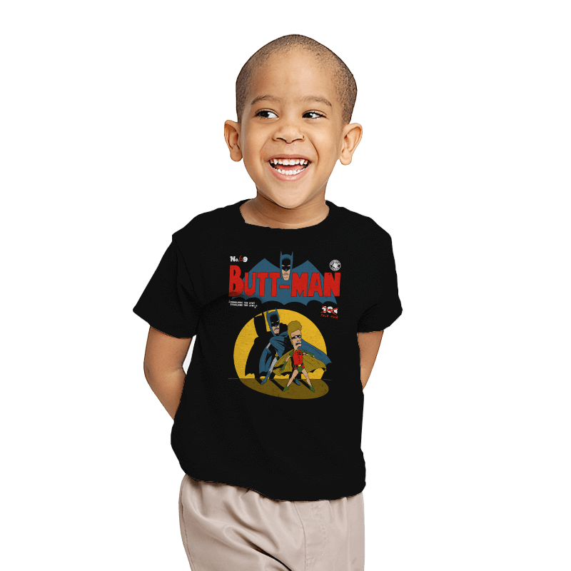 Butt-Man - Youth - T-Shirts - RIPT Apparel