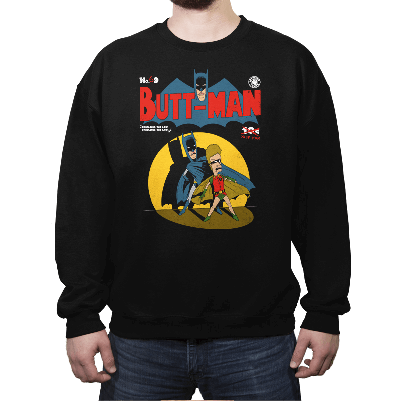 Butt-Man - Crew Neck - Crew Neck - RIPT Apparel
