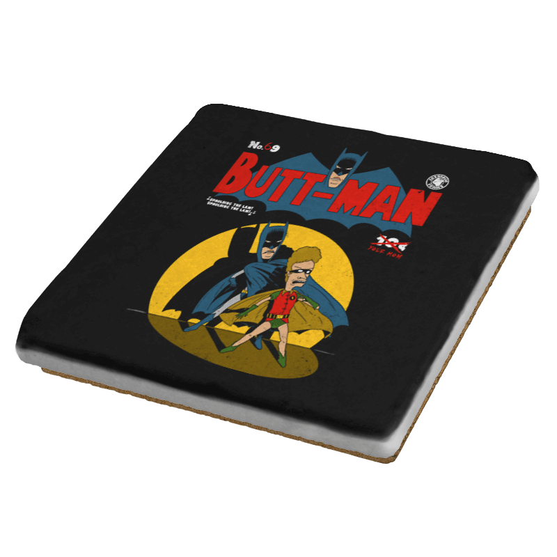 Butt-Man - Coasters - Coasters - RIPT Apparel