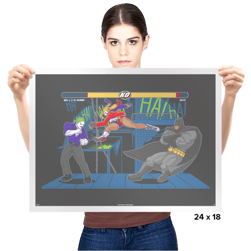 Bat Fight - Prints - Posters - RIPT Apparel