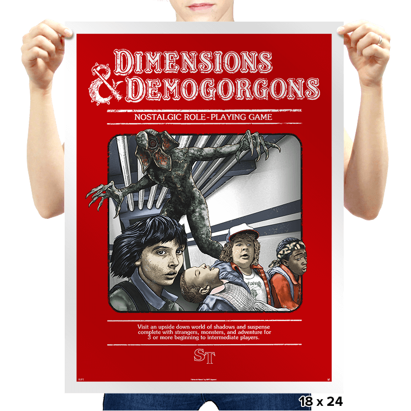 Dimensions & Demogorgons - Prints - Posters - RIPT Apparel