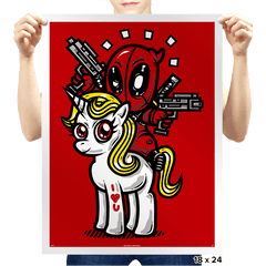 A Merc, 2 Guns, & A Unicorn - Prints - Posters - RIPT Apparel