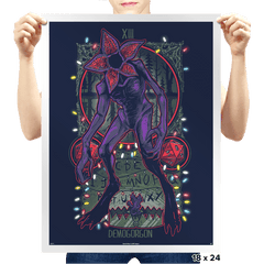 The Demogorgon Tarot Card - Prints - Posters - RIPT Apparel