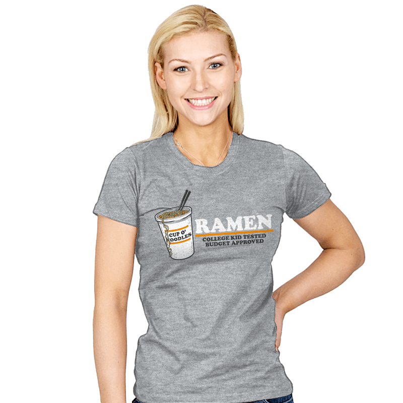 Ramen: Budget Approved - Womens - T-Shirts - RIPT Apparel