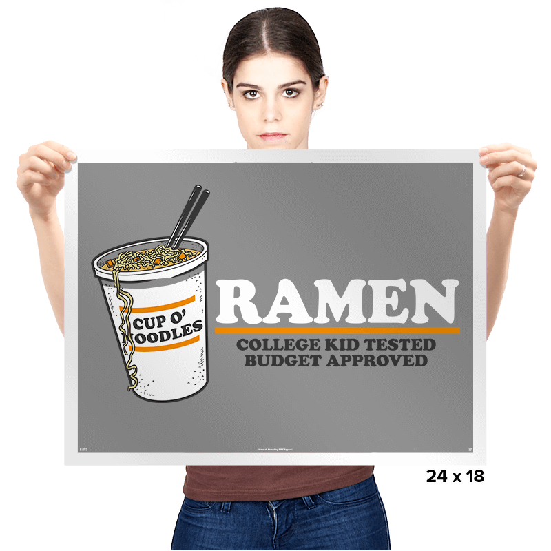 Ramen: Budget Approved - Prints - Posters - RIPT Apparel