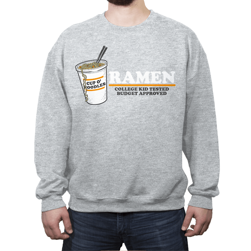 Ramen: Budget Approved - Crew Neck - Crew Neck - RIPT Apparel