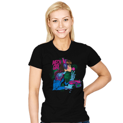 Mech Girl - Womens - T-Shirts - RIPT Apparel