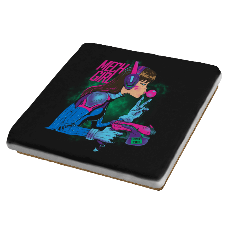 Mech Girl - Coasters - Coasters - RIPT Apparel