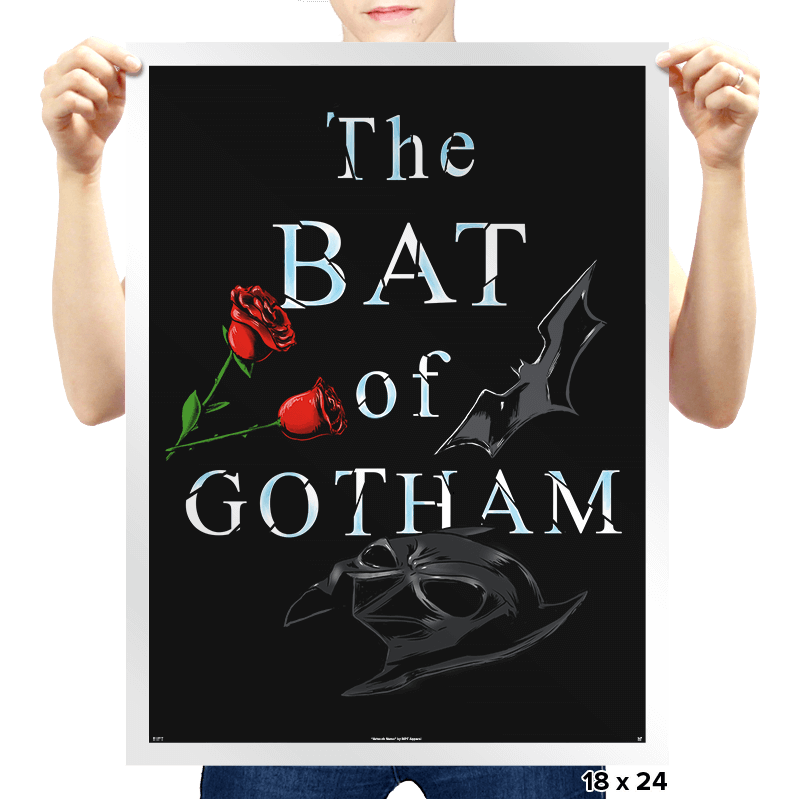 The Bat of Gotham - Prints - Posters - RIPT Apparel