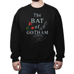 The Bat of Gotham - Crew Neck Sweatshirt - Crew Neck Sweatshirt - RIPT Apparel