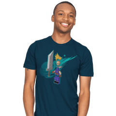 The Blocky Hero of Midgar - Mens - T-Shirts - RIPT Apparel