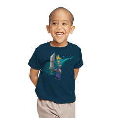 The Blocky Hero of Midgar - Youth - T-Shirts - RIPT Apparel