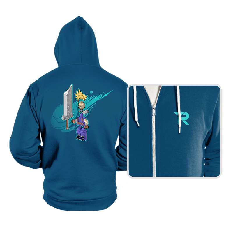 The Blocky Hero of Midgar - Hoodies - Hoodies - RIPT Apparel