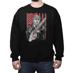 Don Chainsaw Massacre - Crew Neck Sweatshirt - Crew Neck Sweatshirt - RIPT Apparel