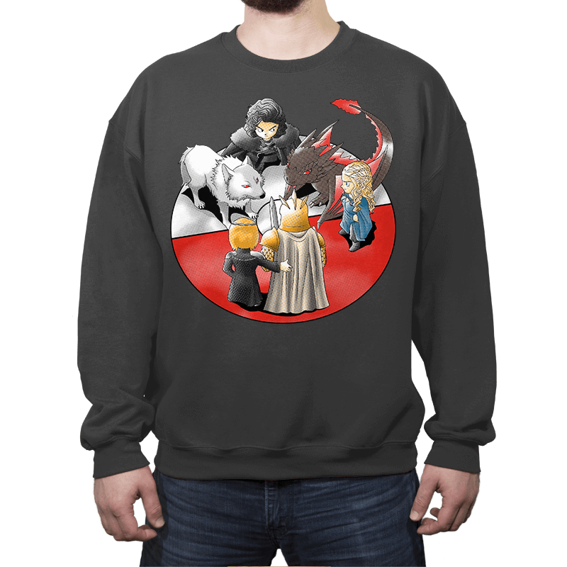 PokeThrones - Crew Neck Sweatshirt - Crew Neck Sweatshirt - RIPT Apparel