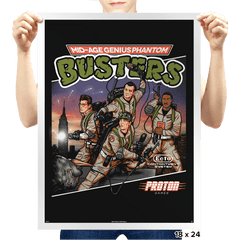 Mid-aged Genius Phantom Busters Exclusive - Prints - Posters - RIPT Apparel