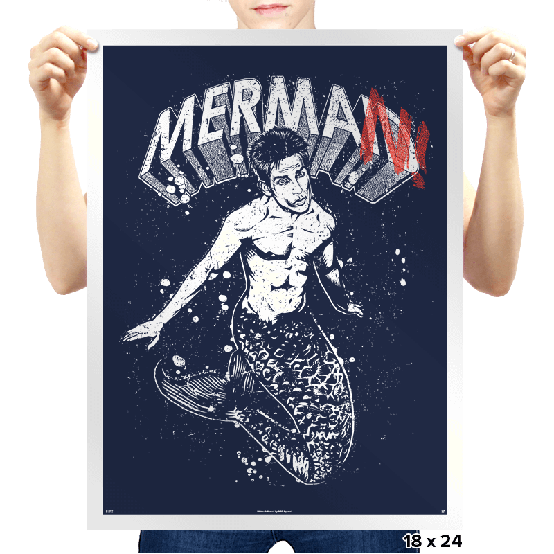 MerMan - Prints - Posters - RIPT Apparel