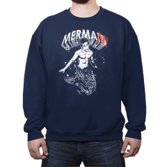 MerMan - Crew Neck Sweatshirt - Crew Neck Sweatshirt - RIPT Apparel