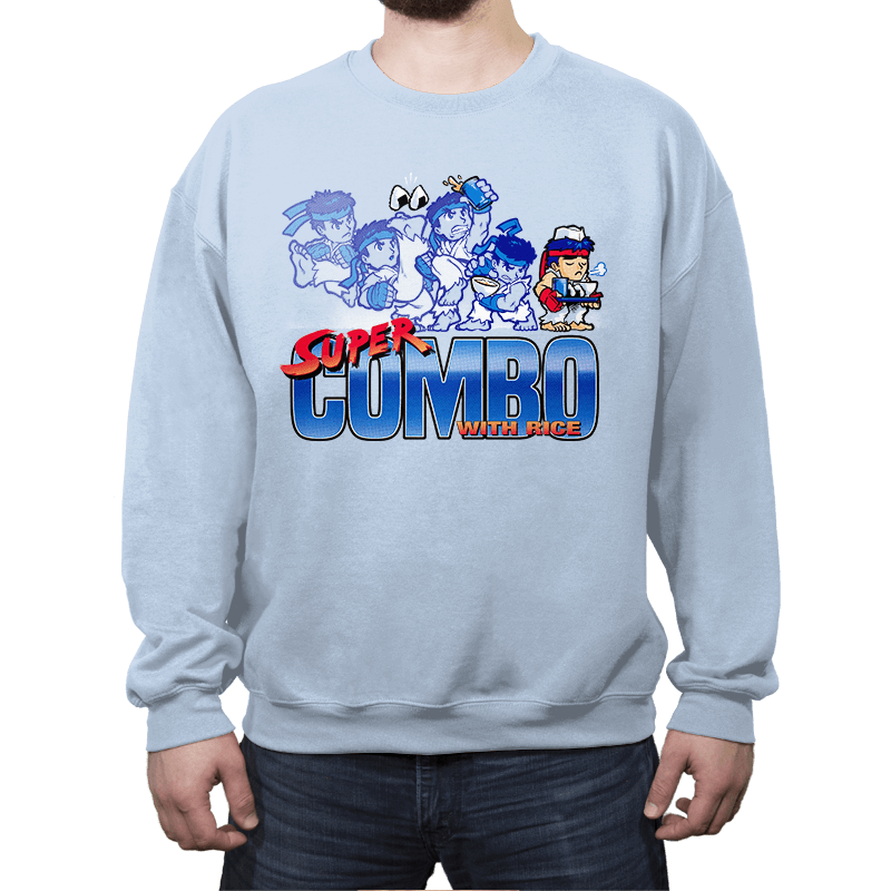 Super Combo with Rice - Crew Neck Sweatshirt - Crew Neck Sweatshirt - RIPT Apparel