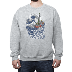 The Wave Waker - Crew Neck Sweatshirt - Crew Neck Sweatshirt - RIPT Apparel