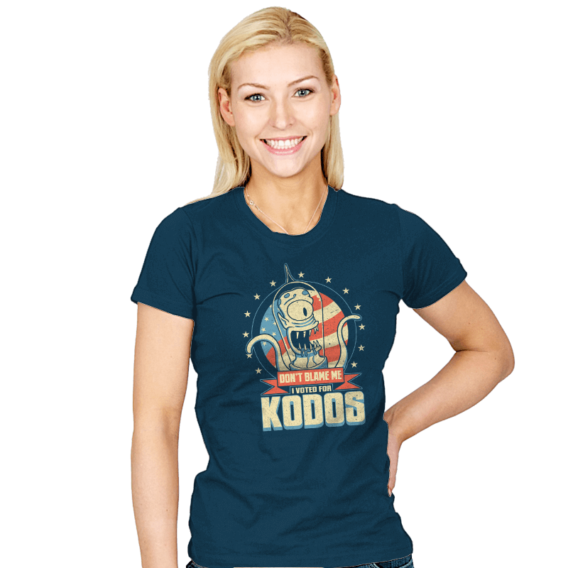 I Voted for Kodos - Womens - T-Shirts - RIPT Apparel
