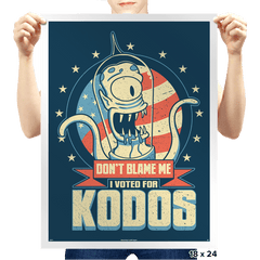 I Voted for Kodos Exclusive - Prints - Posters - RIPT Apparel