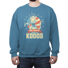 I Voted for Kodos - Crew Neck Sweatshirt - Crew Neck Sweatshirt - RIPT Apparel