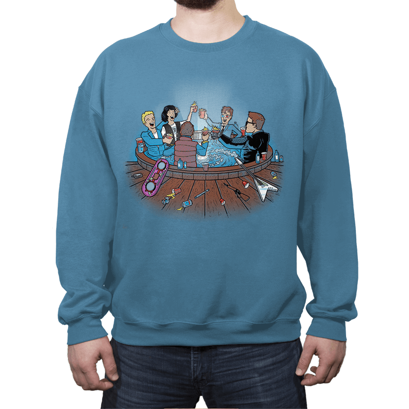 Hot Tub Time Travelers - Crew Neck Sweatshirt - Crew Neck Sweatshirt - RIPT Apparel