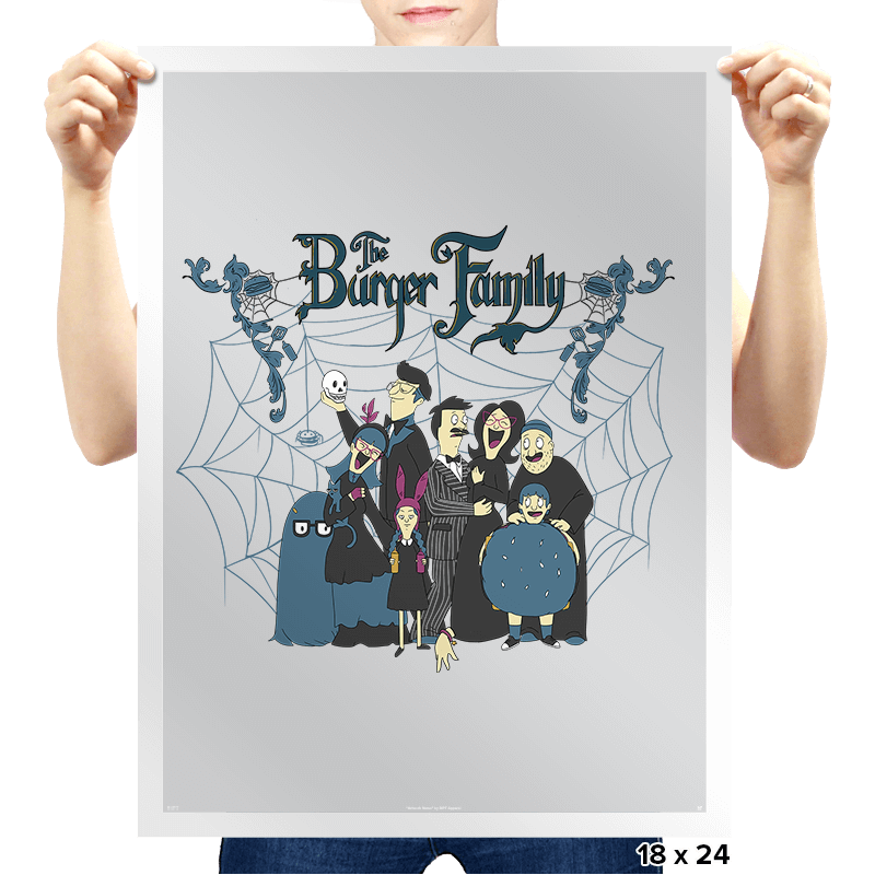 The Burger Family - Prints - Posters - RIPT Apparel