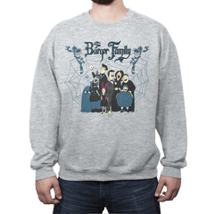 The Burger Family - Crew Neck Sweatshirt - Crew Neck Sweatshirt - RIPT Apparel