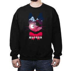 Flying witch - Crew Neck Sweatshirt - Crew Neck Sweatshirt - RIPT Apparel