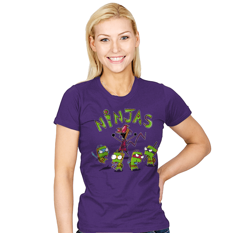 Invader Turtles - Womens - T-Shirts - RIPT Apparel