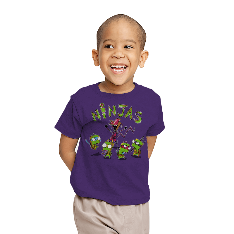 Invader Turtles - Youth - T-Shirts - RIPT Apparel