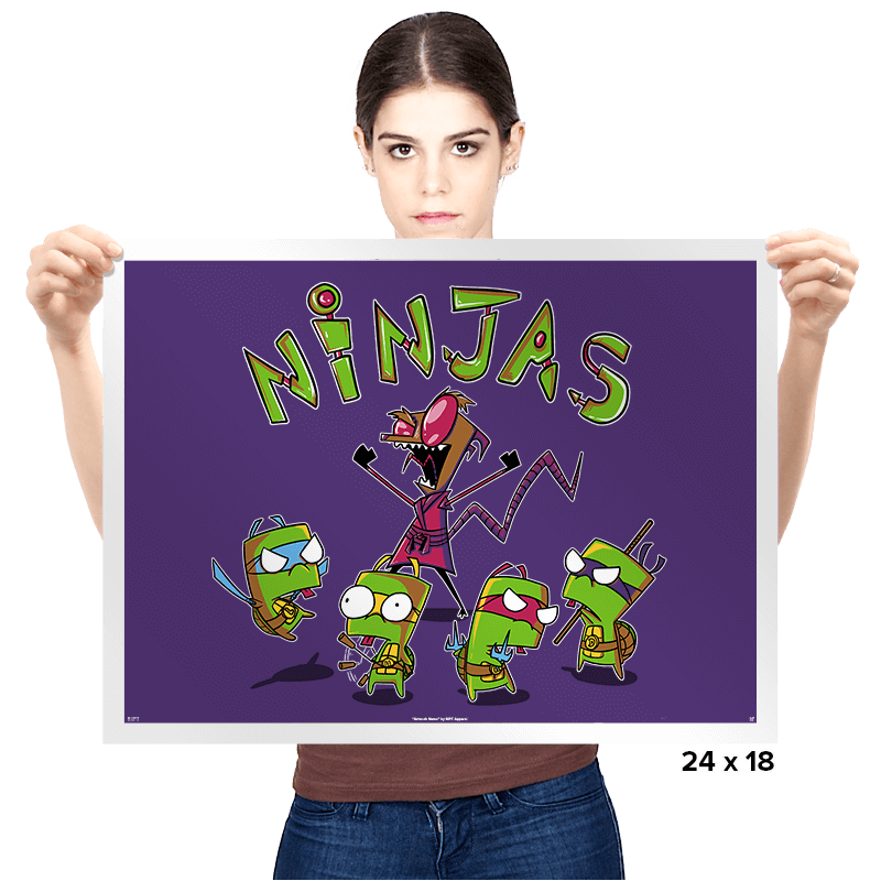 Invader Turtles - Prints - Posters - RIPT Apparel